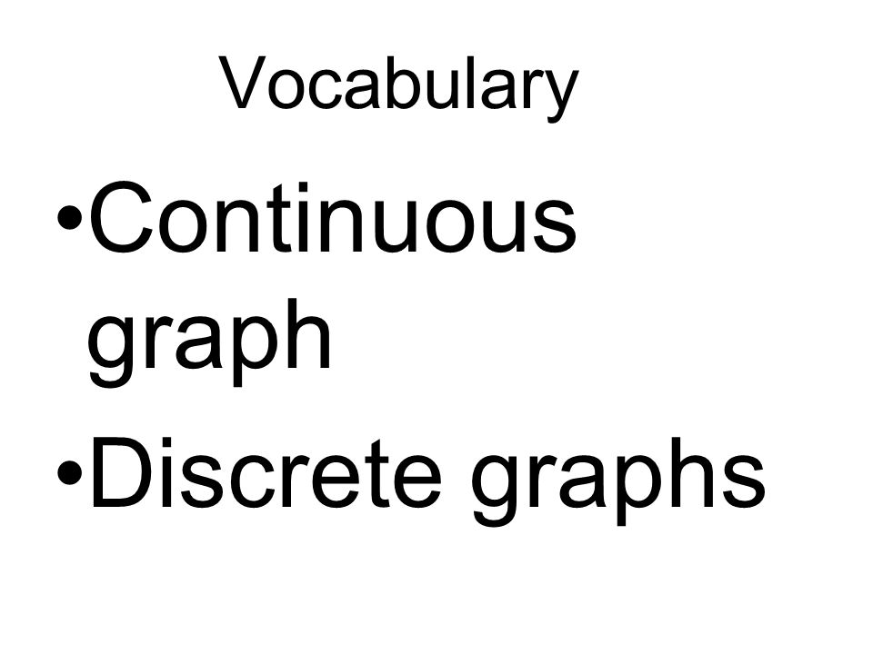 Sketch a graph for the situation.Tell whether the graph is continuous or discrete.