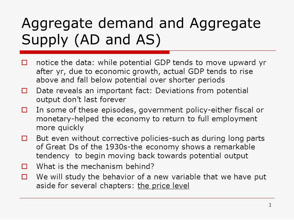 2 Figure 1a: Potential and Actual Real GDP, 1960-2001 Actual and Potential Real GDP (Billions of 1996 Dollars) 2,000 3,000 4,000 5,000 6,000 7,000 8,000 9,000 1960196519701975198019851990199520002003 The orange line shows full- employment or potential output.