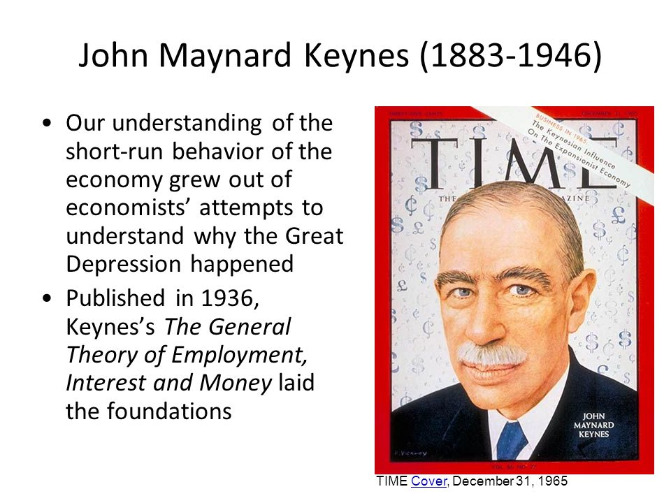 John Maynard Keynes (1883-1946) The long run is a misleading guide to current affairs.