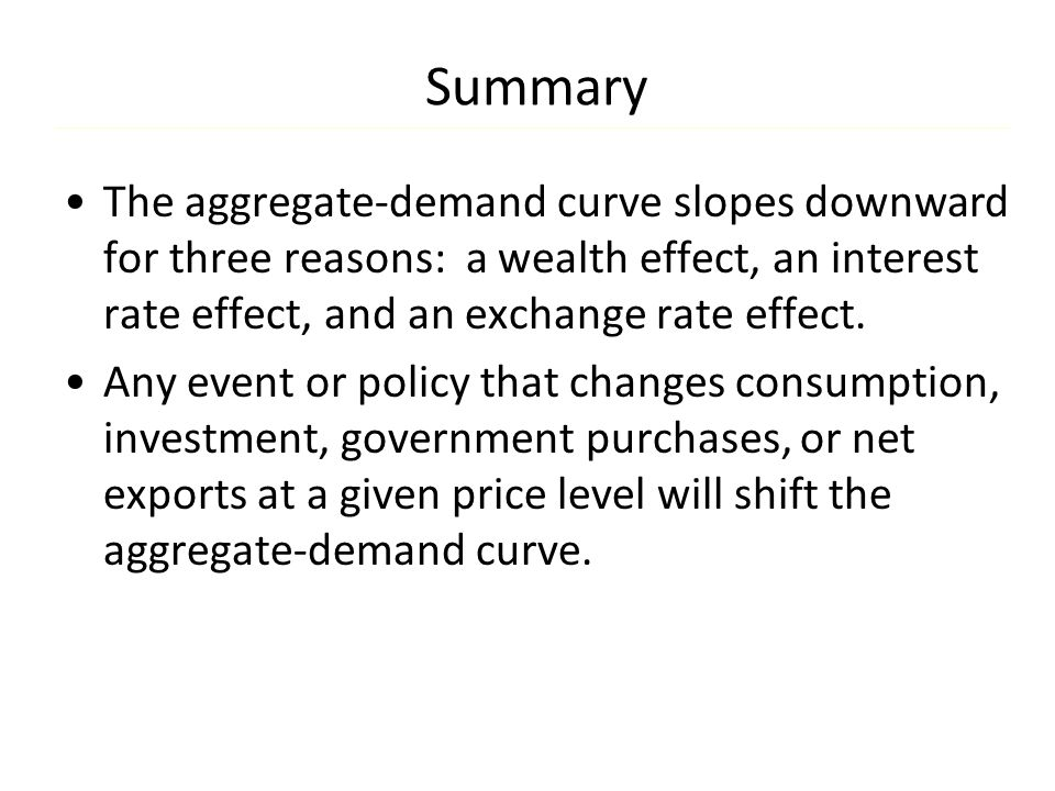 Summary In the long run, the aggregate supply curve is vertical.