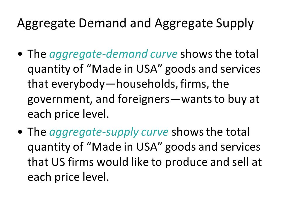 Figure 2 Aggregate Demand and Aggregate Supply Quantity of Output Price Level 0 Aggregate supply Aggregate demand Equilibrium output Equilibrium price level