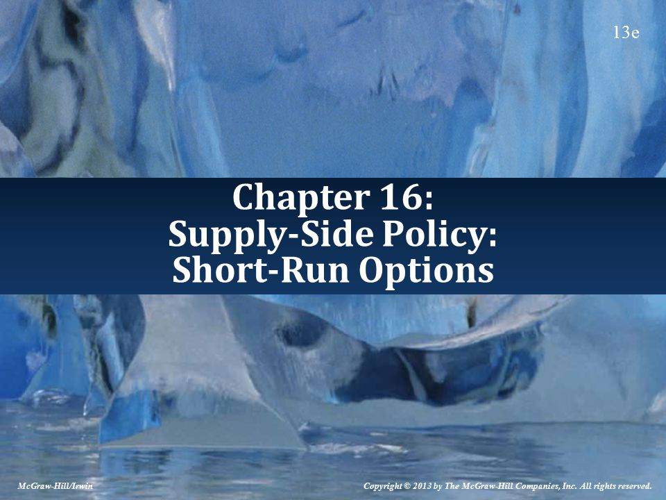 Chapter 16: Supply-Side Policy: Short-Run Options McGraw-Hill/Irwin Copyright © 2013 by The McGraw-Hill Companies, Inc.