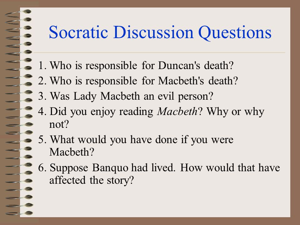 Socratic Discussion Questions 1.Which minor character is the most important to the play.