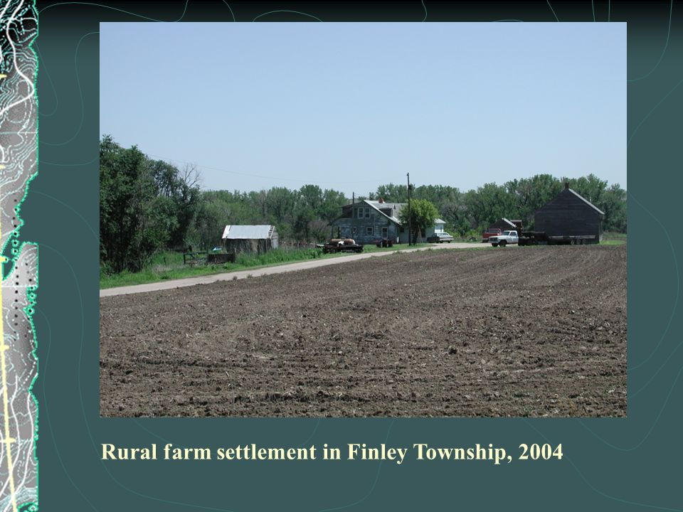 Rural farm settlement in Finley Township, 2004