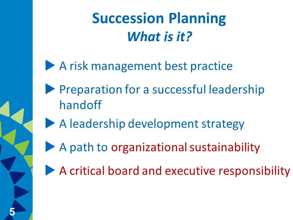 5 Succession Planning What is it.