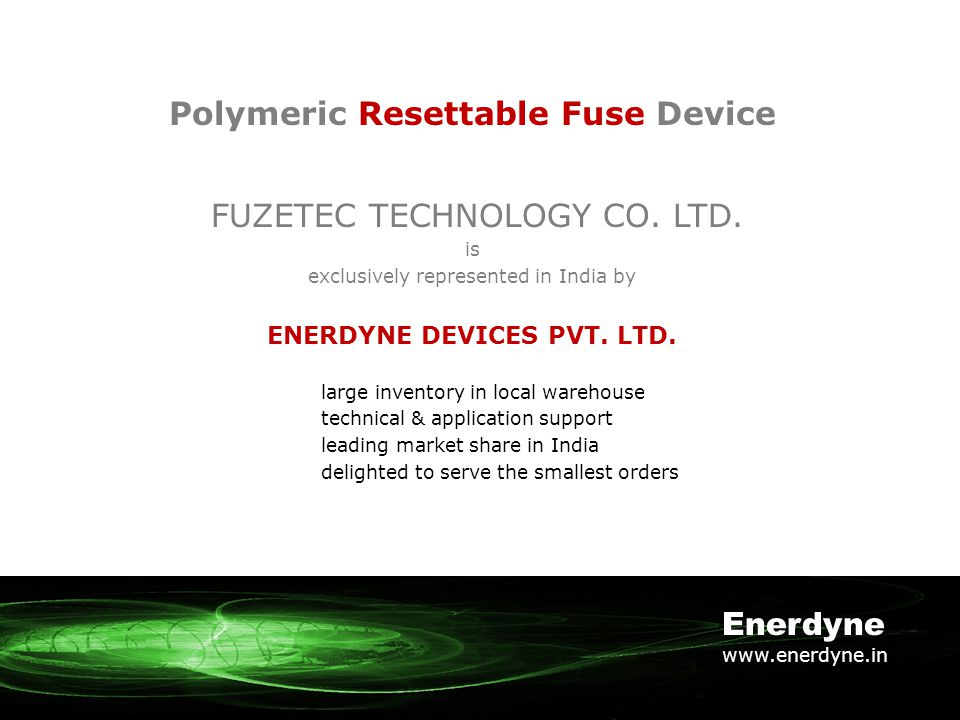 Polymeric Resettable Fuse Device FUZETEC TECHNOLOGY CO.