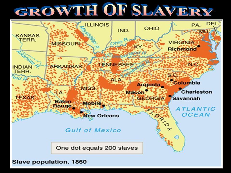 Growth of slavery