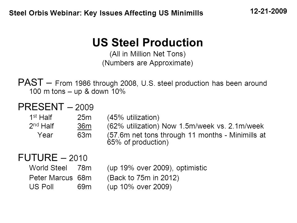 Source: US Department of Commerce and World Trade Atlas NAFTA Exports During Crisis Period NAFTA producers send only a small portion of steel produced outside the region.