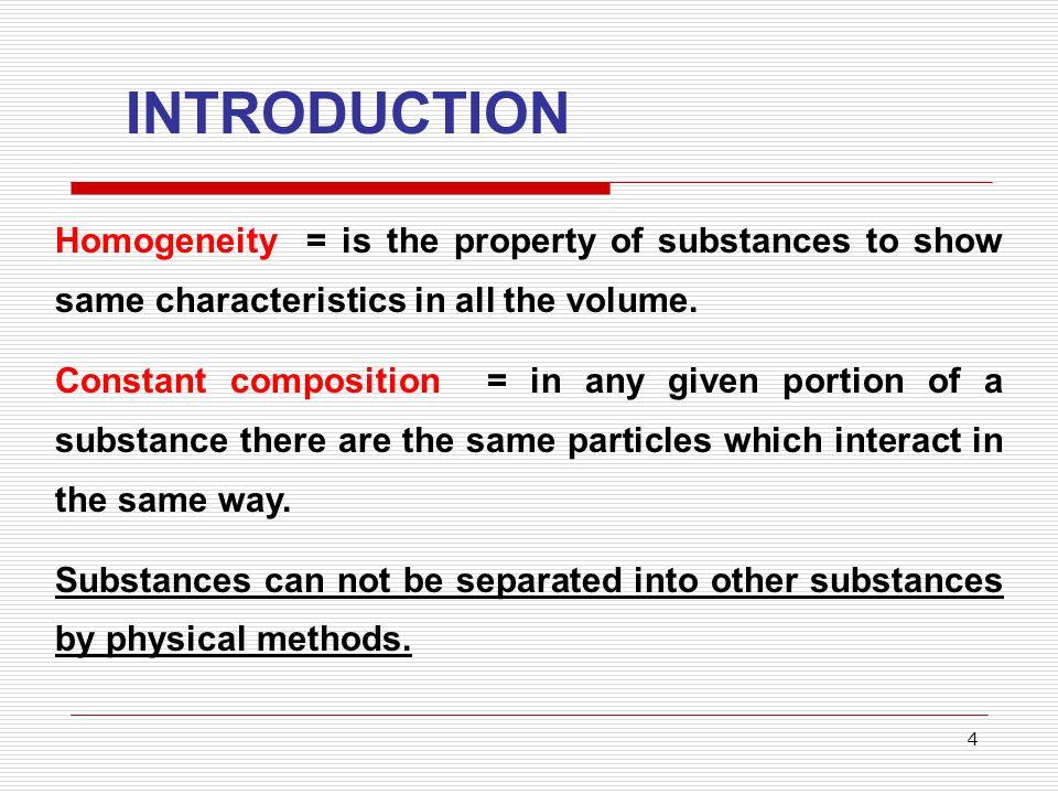 5 Exemple of substances: water, sugar, oxygen, hydrogen, sodium chloride, copper, hydrochloric acid, sodiu hydroxide.