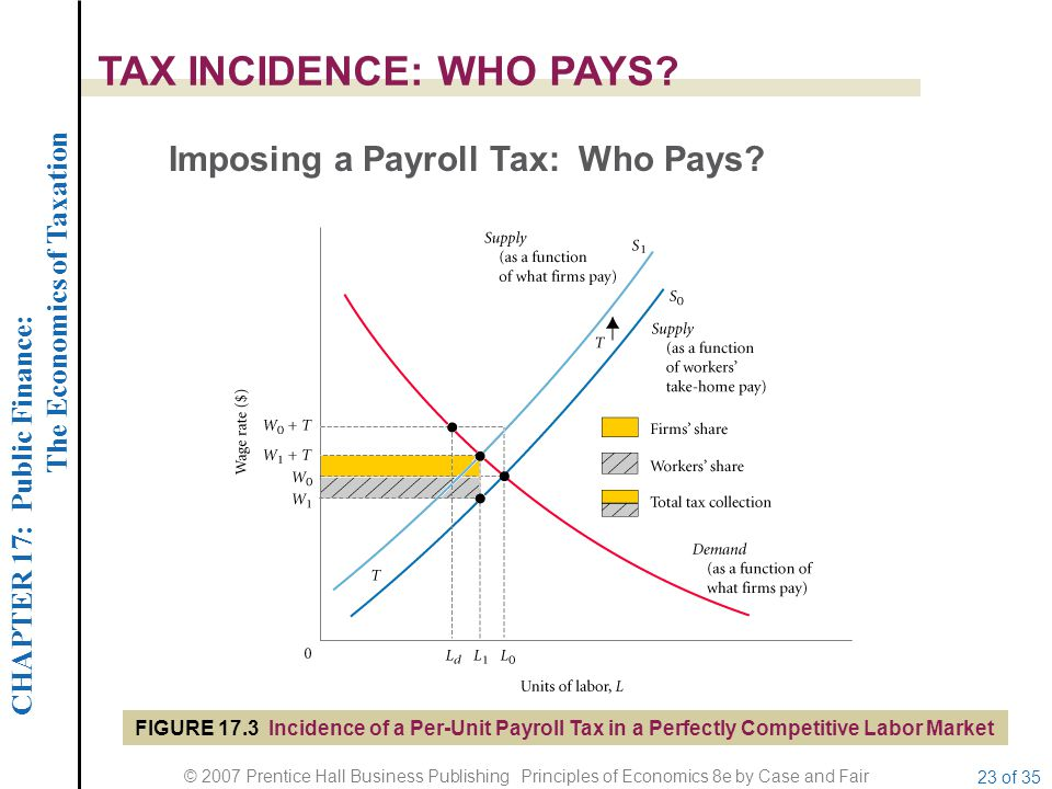 CHAPTER 17: Public Finance: The Economics of Taxation © 2007 Prentice Hall Business Publishing Principles of Economics 8e by Case and Fair 23 of 35 TA