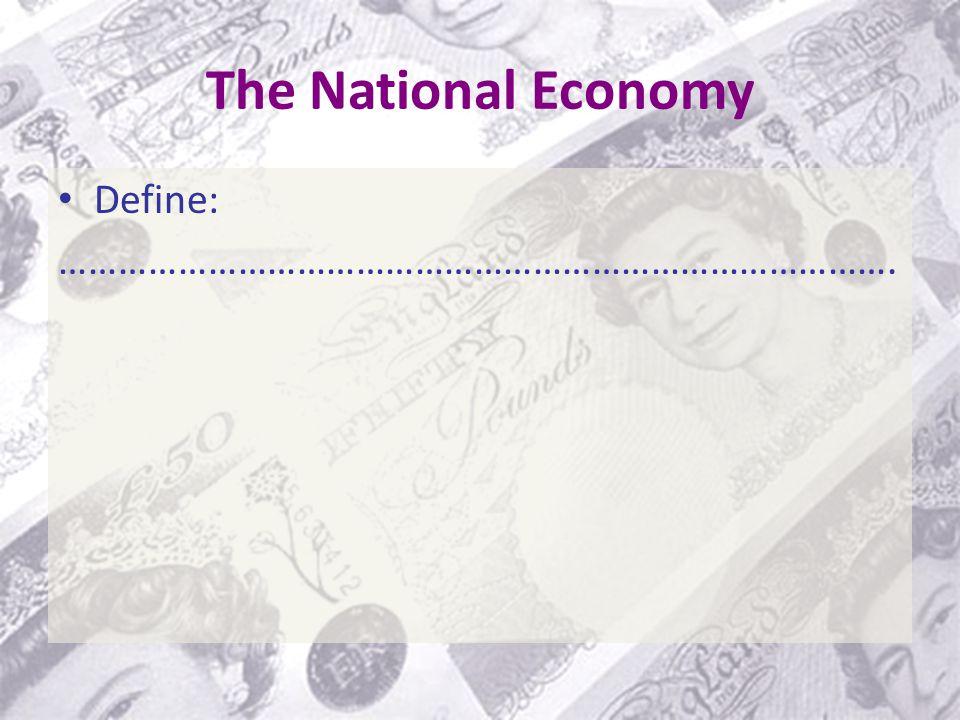 The National Economy Define: ………………………………………………………………………….