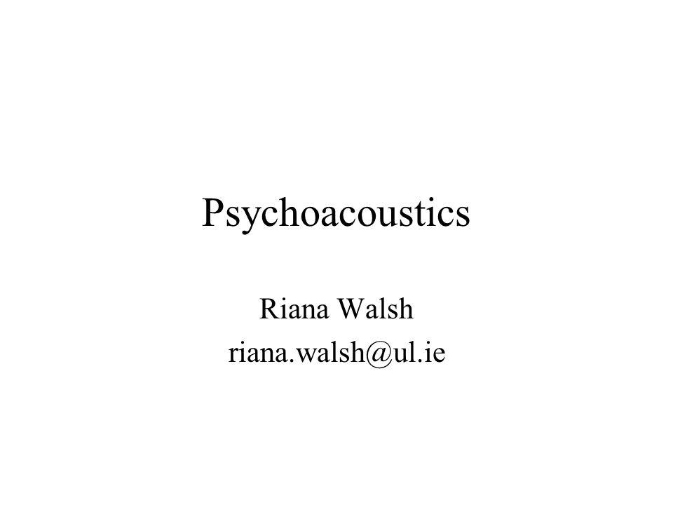 Relevant texts Acoustics and Psychoacoustics, D.M.