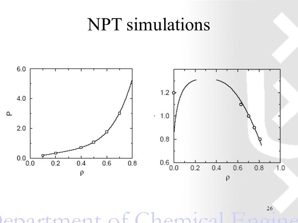 26 NPT simulations