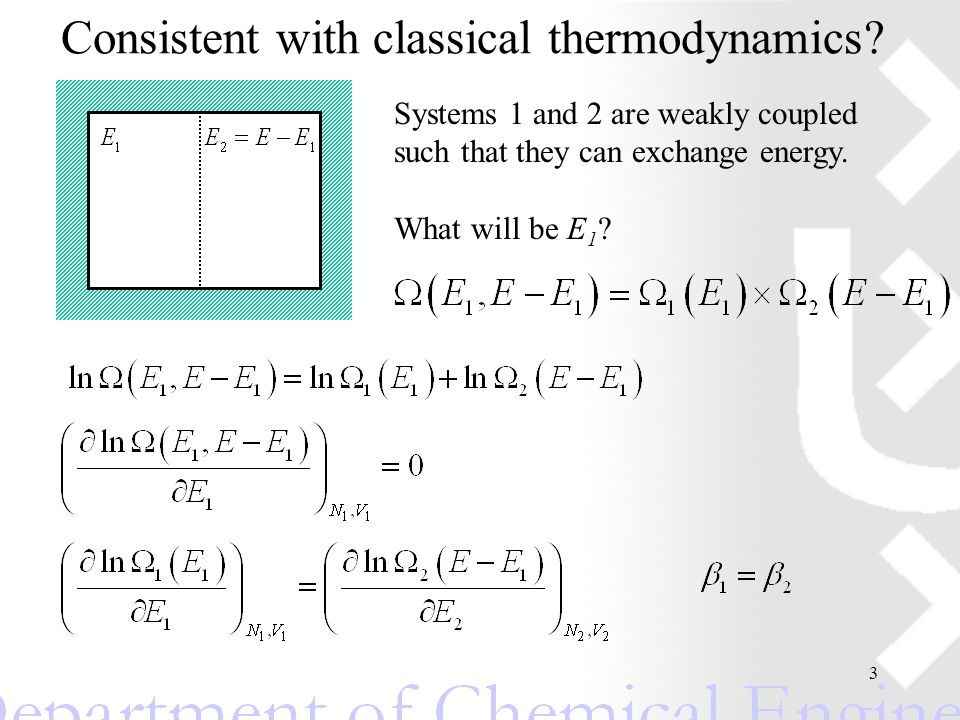 4 Summary: micro-canonical ensemble (N,V,E) Partition function: Probability to find a particular configuration Free energy