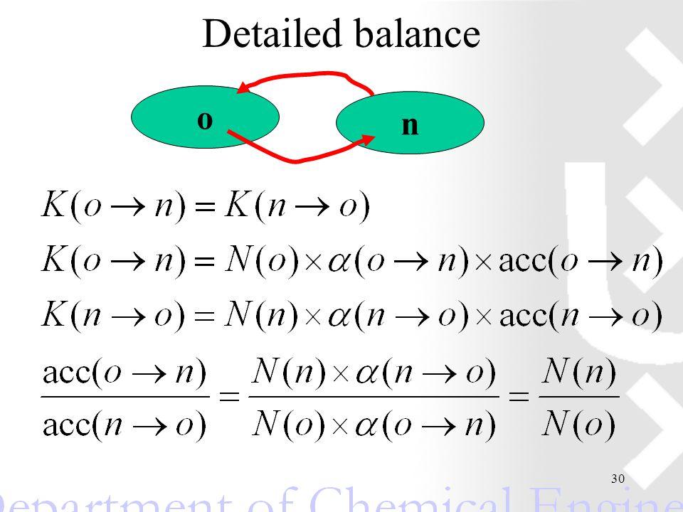30 Detailed balance o n