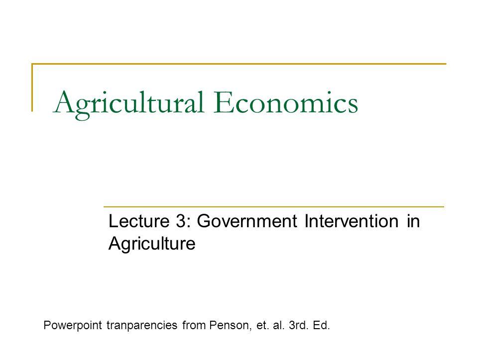 International Issues  Adequacy of world food supply