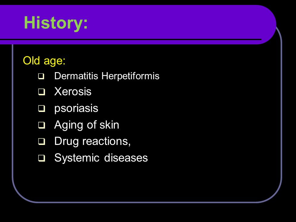 Minor features Dryness of skin Ichthyosis, palmar hyperlinearity/keratosis pilaris Hand/foot dermatitis Lip dermatitis Nipple eczema Increased cutaneous infections e.g.