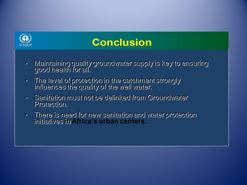 Maintaining quality groundwater supply is key to ensuring good health for all.Maintaining quality groundwater supply is key to ensuring good health fo