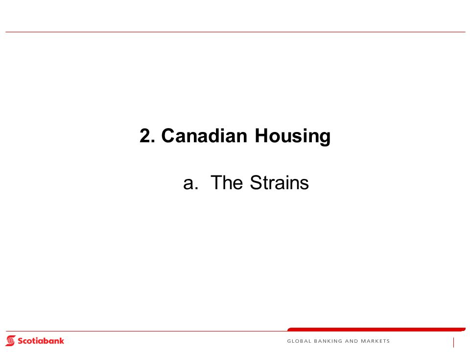 2.Canadian Housing a. The Strains