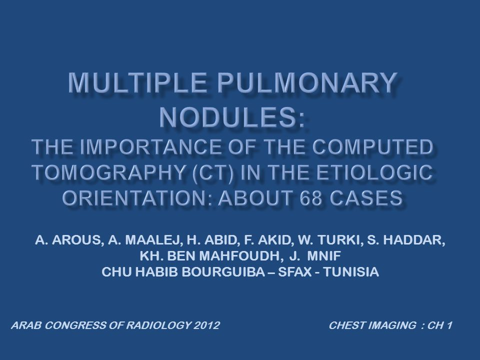 In our study, concerning noninfectious inflammatory conditions, we have found:  The peripheral localization of the nodules were found in all cases.