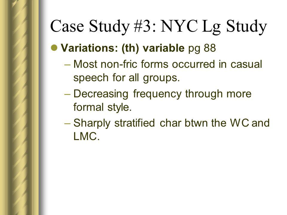 Case Study #3 NYC Dept.
