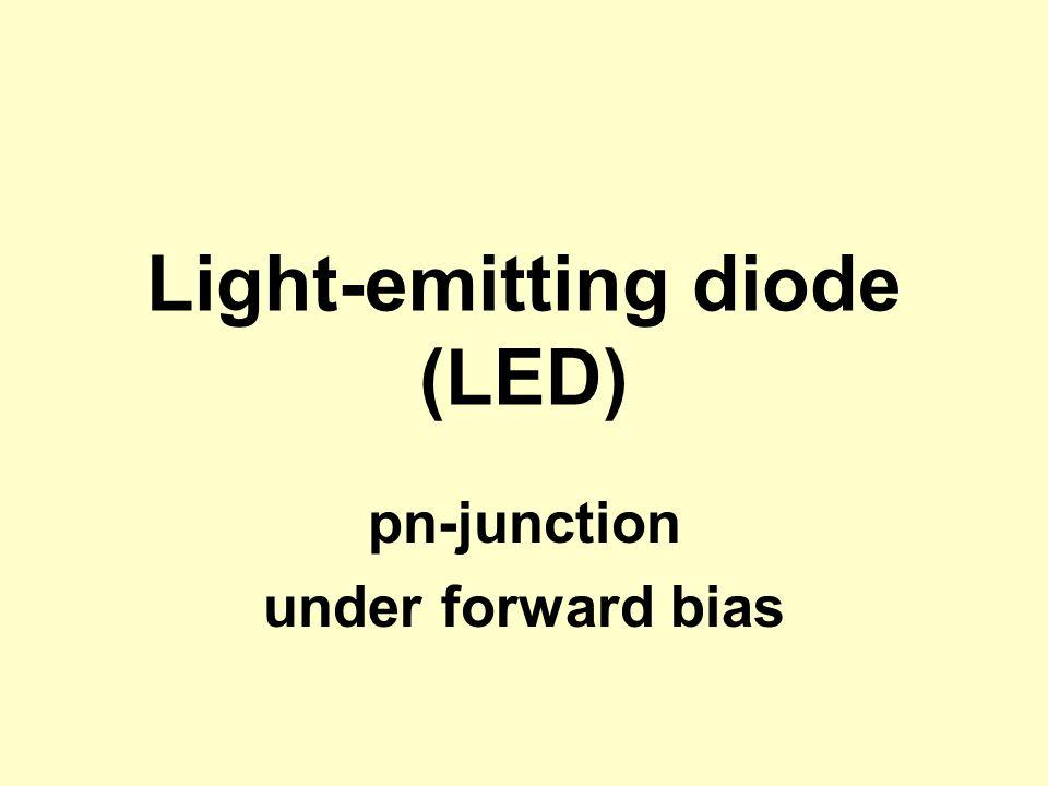 Light-emitting diode (LED) pn-junction under forward bias