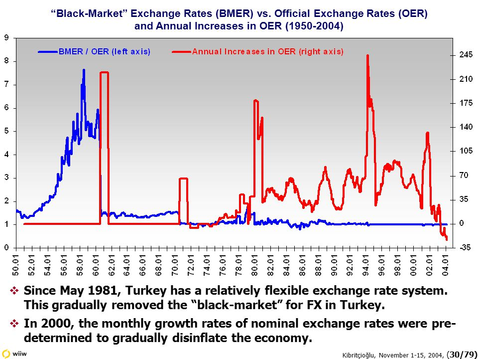 Kibritçioğlu, November 1-15, 2004, (30/79)  Since May 1981, Turkey has a relatively flexible exchange rate system.