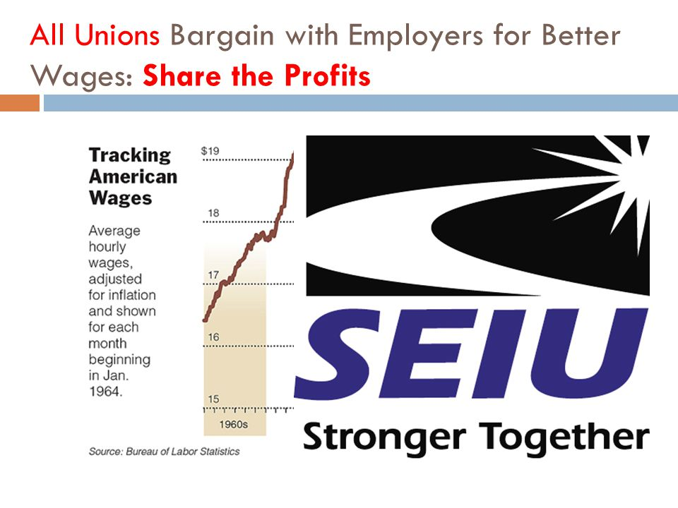 All Unions Bargain with Employers for Better Wages: Share the Profits