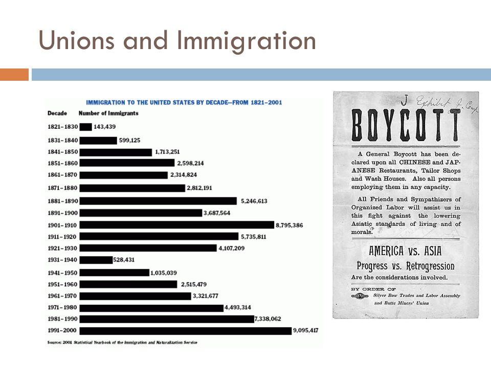 Unions and Immigration
