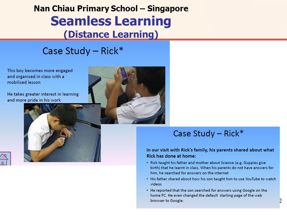 12 Nan Chiau Primary School – Singapore Seamless Learning (Distance Learning)