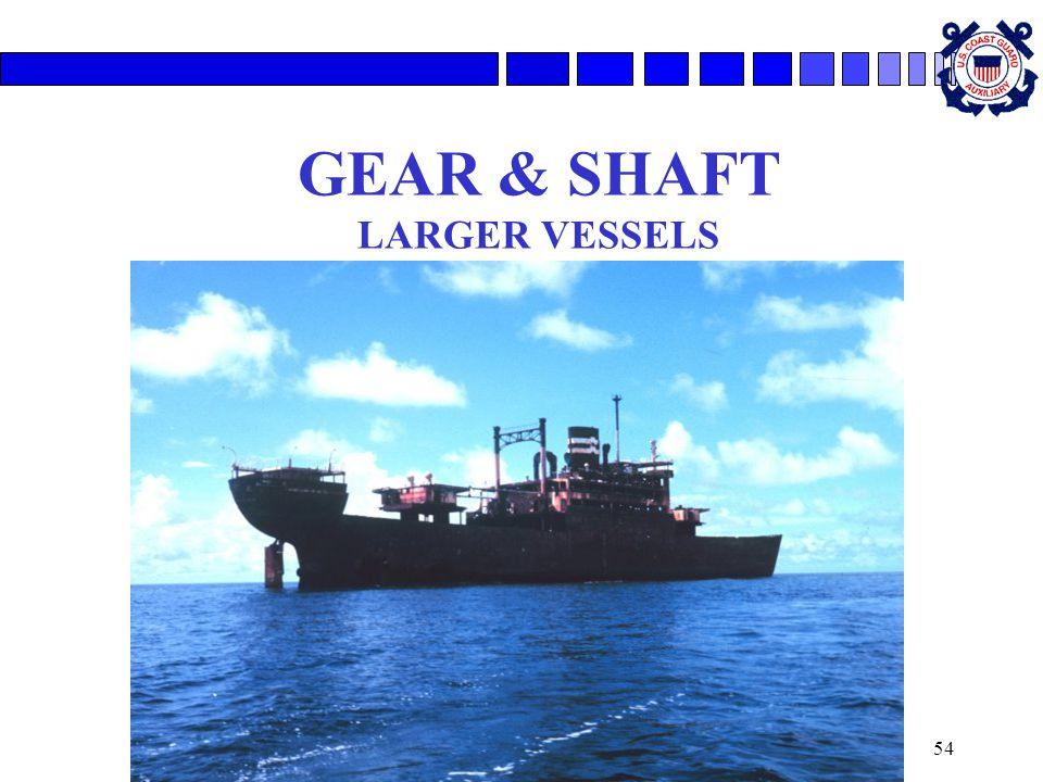 54 GEAR & SHAFT LARGER VESSELS