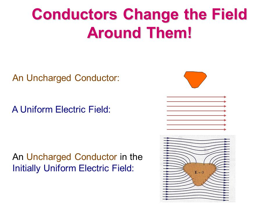 Conductors Change the Field Around Them.