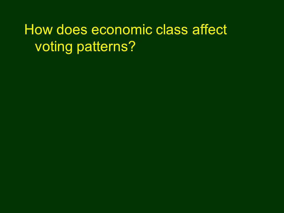 How does economic class affect voting patterns?
