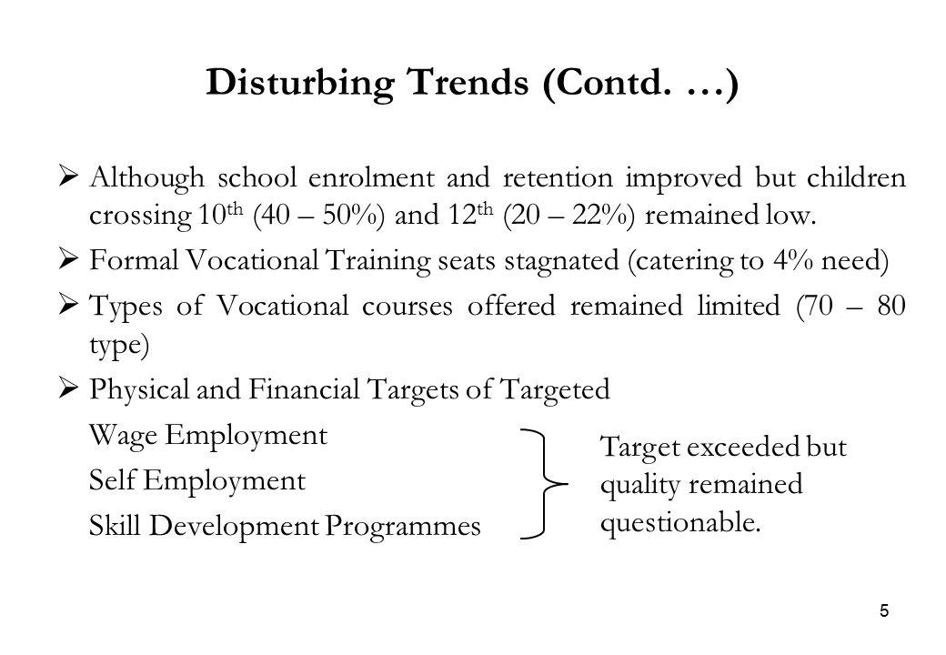 5 Disturbing Trends (Contd.