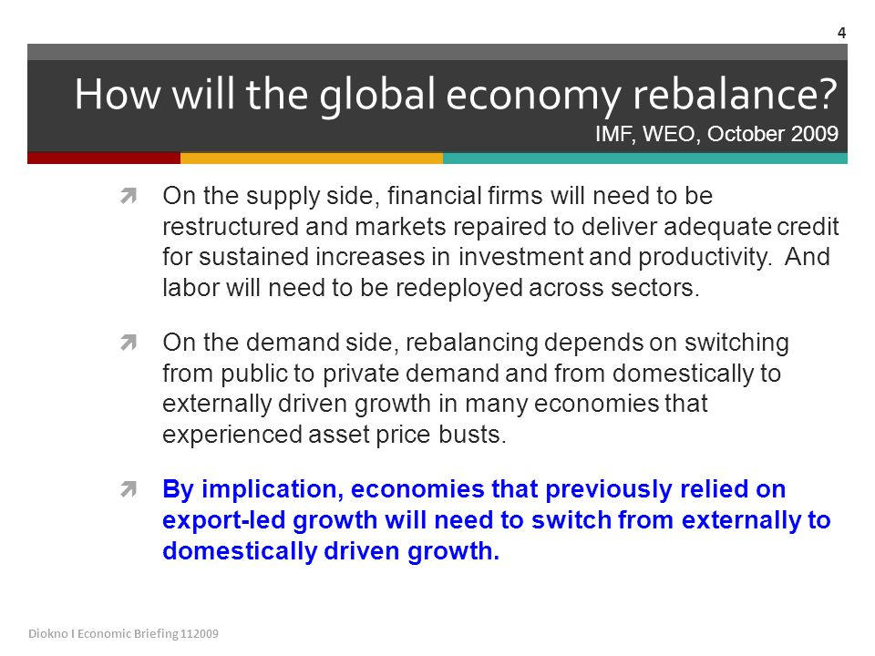 How will the global economy rebalance.