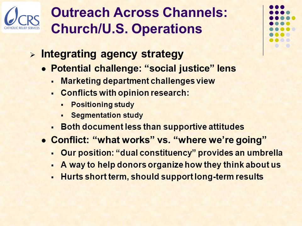 Outreach Across Channels: Church/U.S.