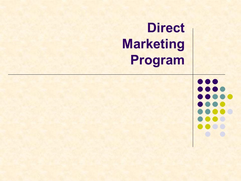 Direct Marketing Program