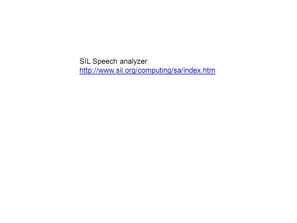 SIL Speech analyzer http://www.sil.org/computing/sa/index.htm