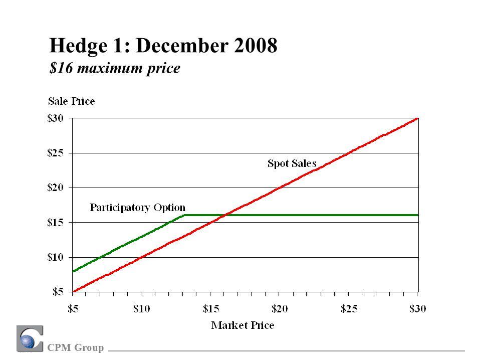 CPM Group Hedge 1: December 2008 $16 maximum price