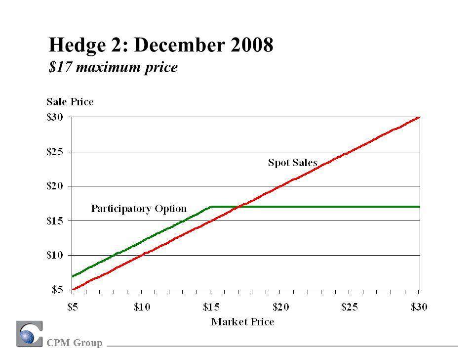 CPM Group Hedge 2: December 2008 $17 maximum price