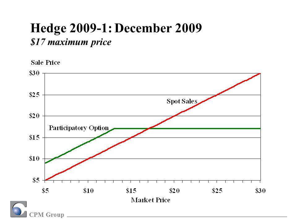 CPM Group Hedge 2009-1: December 2009 $17 maximum price