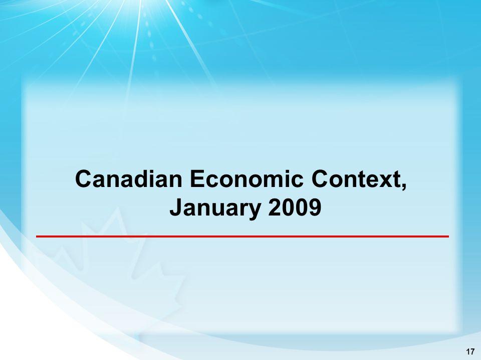 17 Canadian Economic Context, January 2009
