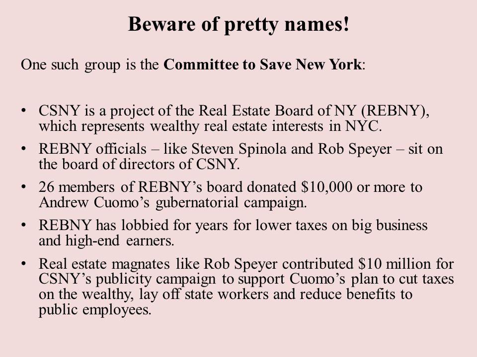 Beware of pretty names.