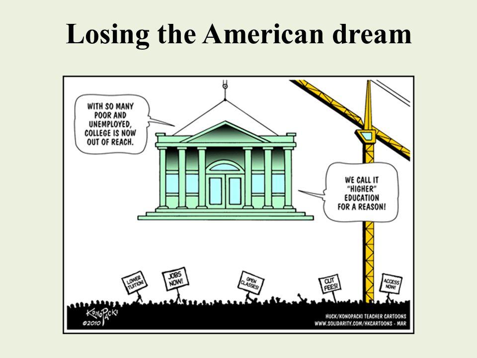 Losing the American dream