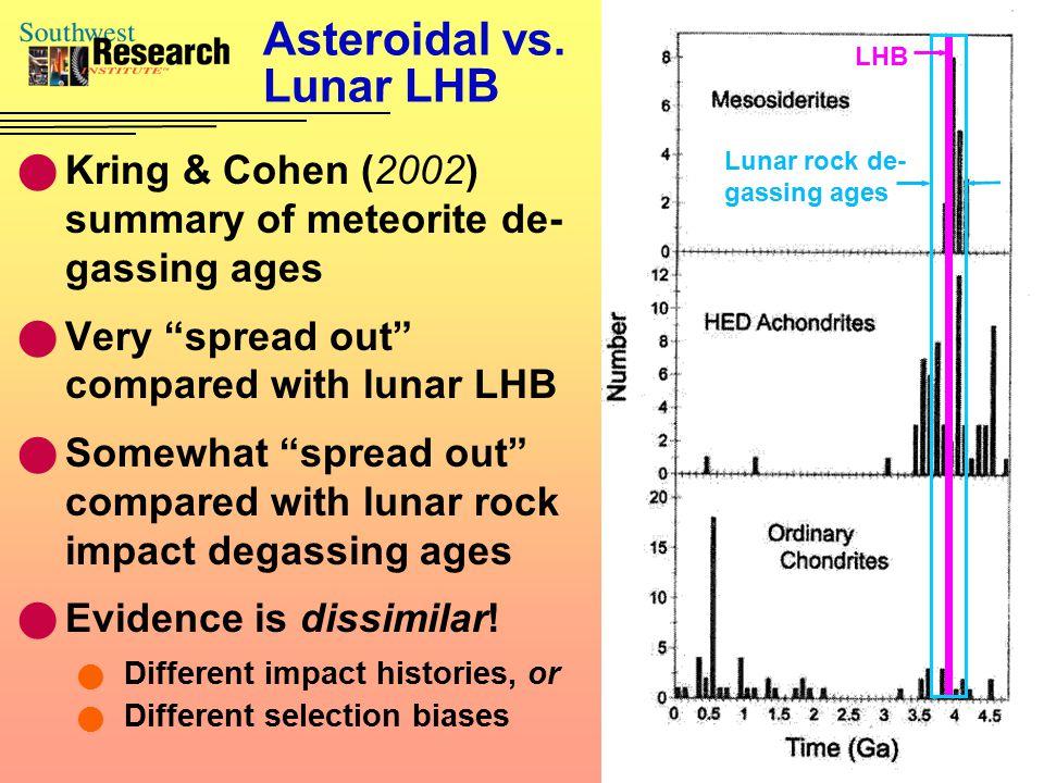 Asteroidal vs.