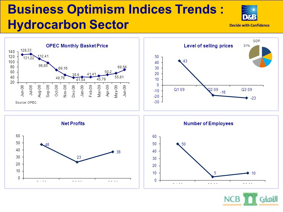 Business Optimism Indices Trends : Hydrocarbon Sector GDP 31%