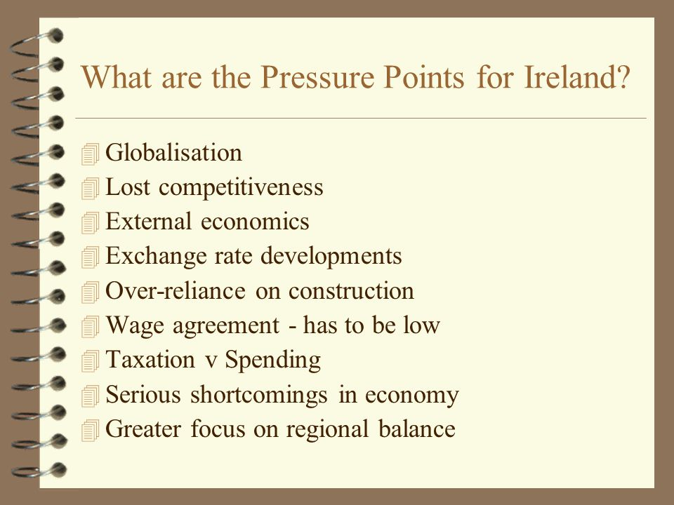 What are the Pressure Points for Ireland.