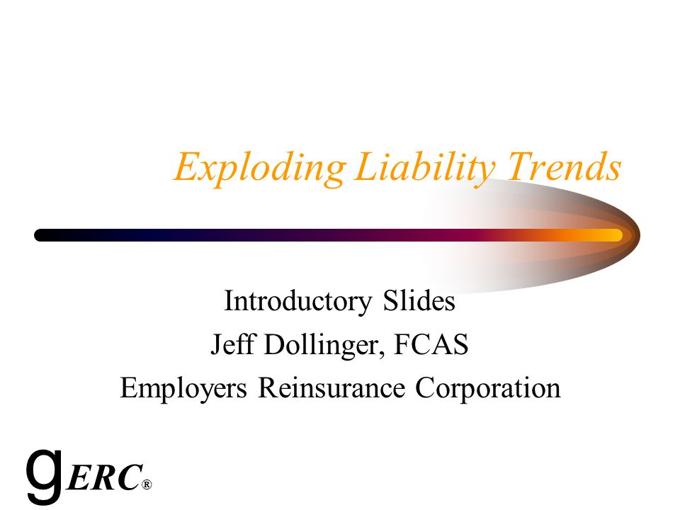 Introduction Rates are rising sharply for most casualty lines of business.