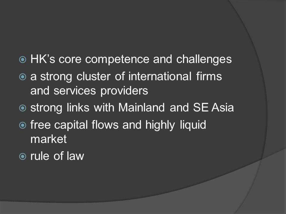  Regarding FX & Futures Markets:  (i) Developing RMB's futures and options market.