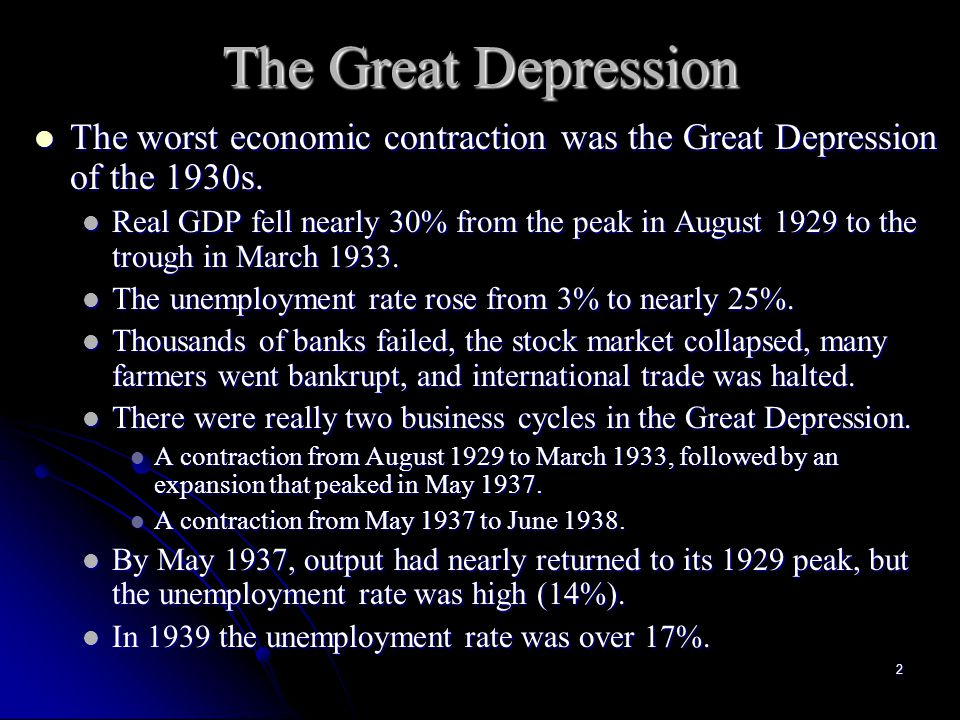 1 The Great Depression